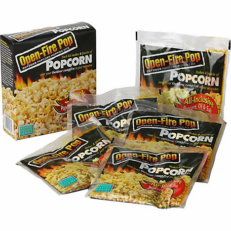 Wabash Valley Farms Open-Fire Pop Outdoor Popcorn Popping Kits, Pack of 5