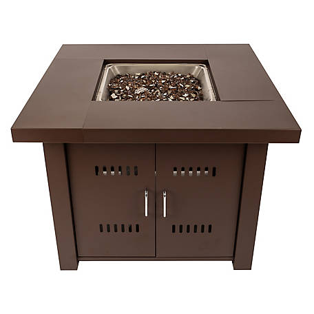 Pleasant Hearth Avalon 38 in. Square Gas Fire Pit Table