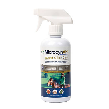 MicrocynAH Wound and Skin Care Liquid, 16 oz.