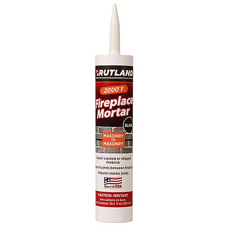 Rutland Fireplace Mortar, Black, 10.3 fl. oz. Cartridge