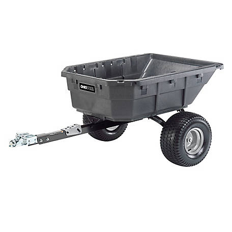 Ohio Steel Poly Swivel ATV Dump Cart, 12.5 cu. ft./1250 lb. Capacity