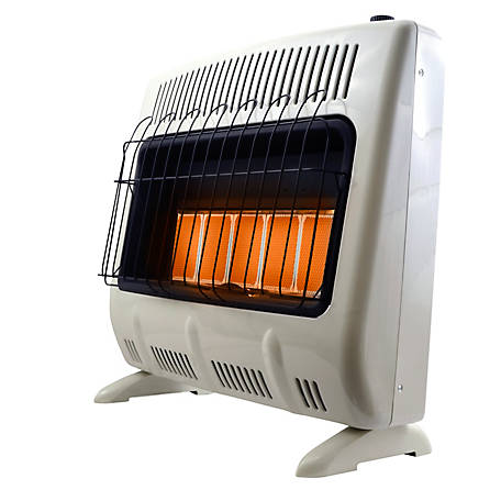 Mr. Heater 30,000 BTU Vent-Free Radiant Natural Gas Heater with Blower, MHVFR30TBNG