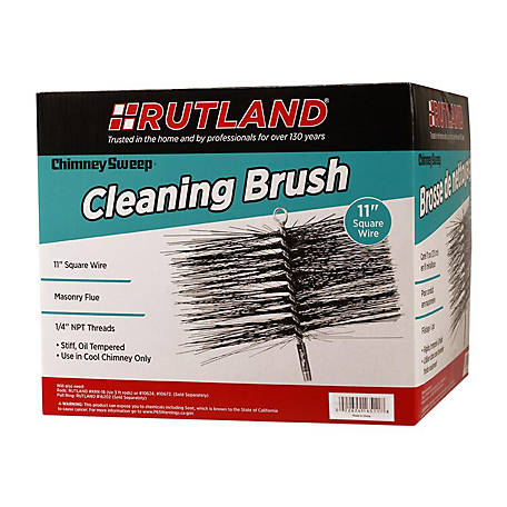 Rutland Chimney Sweep Chimney Brush, 11 in. Square Wire, 1/4 in. NPT