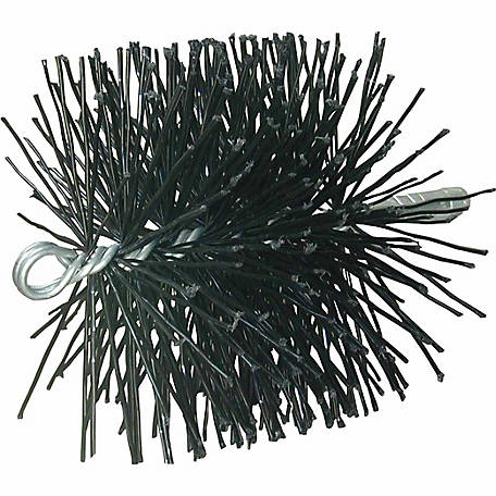 Rutland Chimney Sweep Chimney Brush, 8 in. Round Polypropylene 1/4 in. NPT