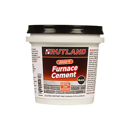 Rutland Black Furnace Cement 8 Fl Oz Tub At Tractor Supply Co
