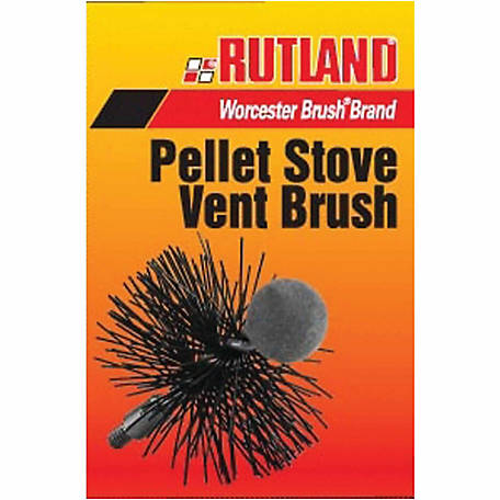 Rutland 4 in. Round Pellet Stove Brush, 1/4 in.-20 Thread