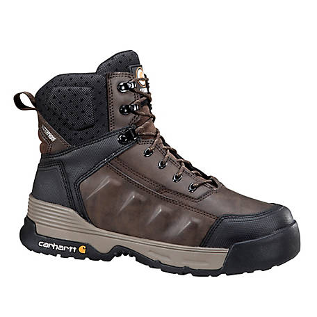 Carhartt Men's 6 in. Force Brown Composite Toe Waterproof Work Boot