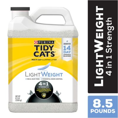 Buy Tidy Cats Clumping Litter LightWeight 4-in-1 Strength for Multiple Cats; 8.5 lb. Plastic Jug Online