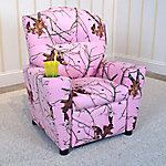 Mossy Oak Nativ Living Pink Kid's Recliner