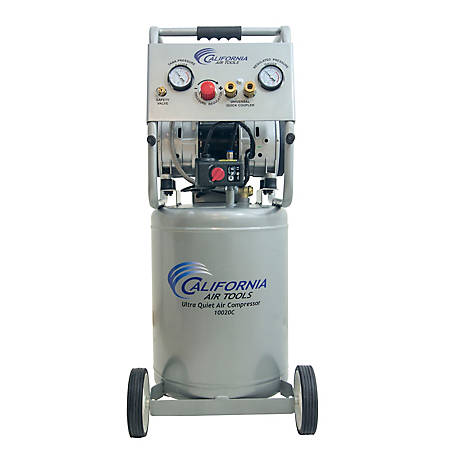California Air Tools 10020C-22060 Ultra Quiet & Oil-Free 2.0 HP 10.0-Gallon Steel Tank Air Compressor 220V 60 Hz