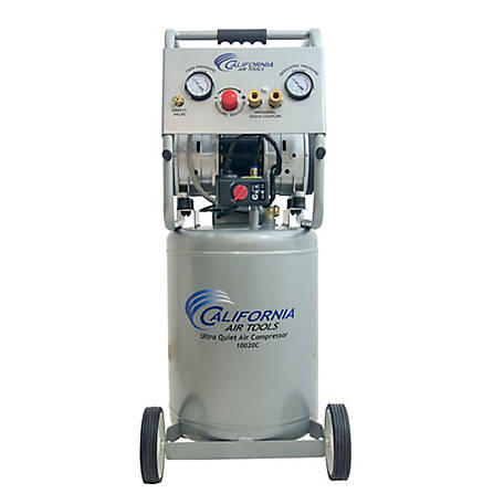 California Air Tools 10020CAD Ultra Quiet & Oil-Free 2.0 HP 10.0-Gallon Steel Tank Air Compressor w/ Auto Drain Valve