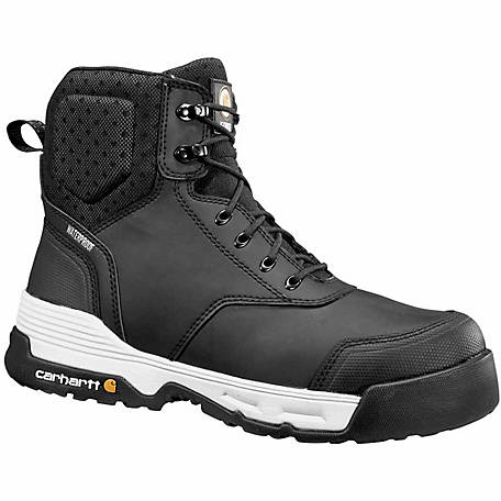 b1979b57da0 Carhartt Men's 6 in. Force Black Composite Toe Waterproof Work Boot at  Tractor Supply Co.