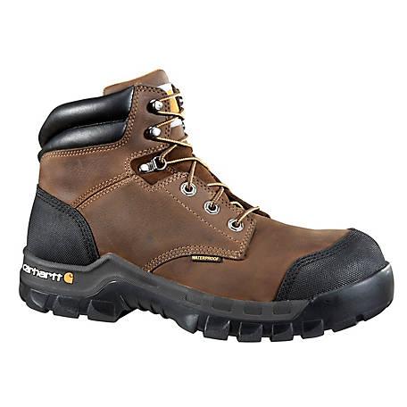 d5380692f33 Carhartt Men's 6 in. Brown Rugged Flex Waterproof Composite Toe Work Boot