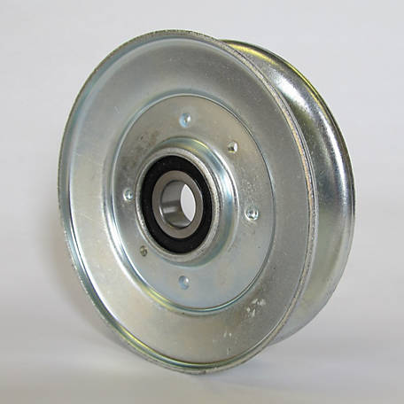 Phoenix Heavy-Duty Steel V-Idler Pulley, 5/8 in. Bore, 4-1/2 in. OD
