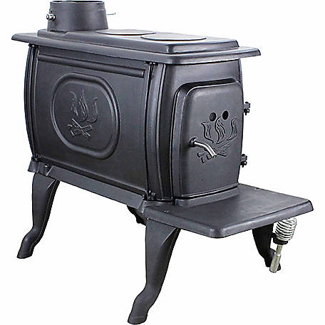 US Stove 900 sq. ft EPA Certified Small Cast Iron Wood Stove, US1269E