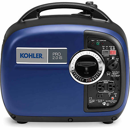 Kohler PRO2.0IS 2000 Watts Max/1600 Continuous Portable Inverter Generator, 79cc Engine w/Recoil Start, 50 State/CARB Compliant