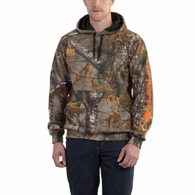 Carhartt Camo-Sleeve Logo Hooded Sweatshirt