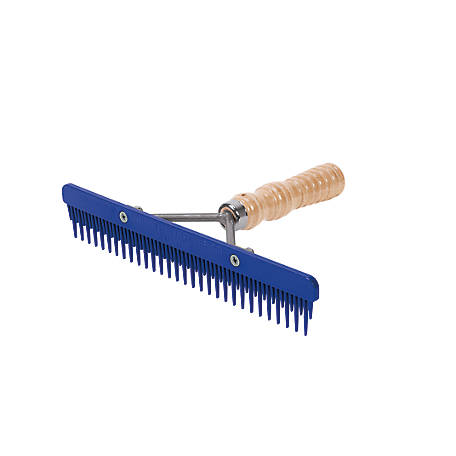 Weaver Leather Fluffer Comb with Wood Handle and Replaceable Plastic Blade