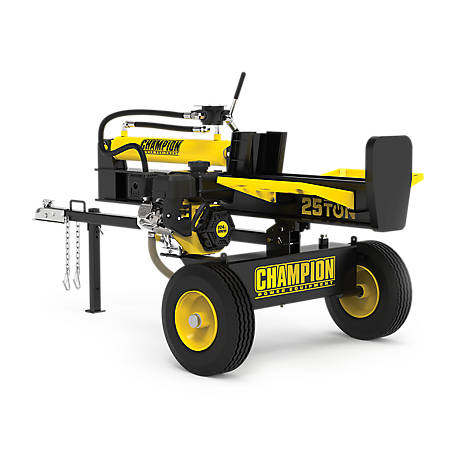 Champion Power Equipment 25-Ton Horizontal/Vertical Full Beam Gas Log Splitter with Auto Return, 100251