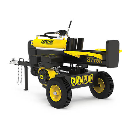 Champion Power Equipment 37-Ton Horizontal/Vertical Full Beam Gas Log Splitter with Auto Return