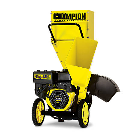 Champion Power Equipment 3 in. Portable Chipper-Shredder with Collection Bag, 100137