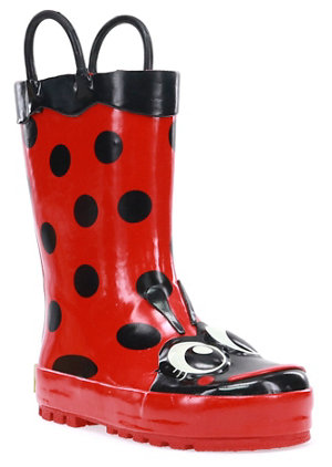 Western Chief Girls Red Ladybug Rain Boots - For Life Out Here