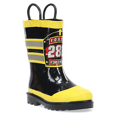 Western Chief Boy's F.D.U.S.A. Fire Chief Little Kid Rain Boots