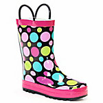 Western Chief Girls Dot Party Big Kid Rain Boots