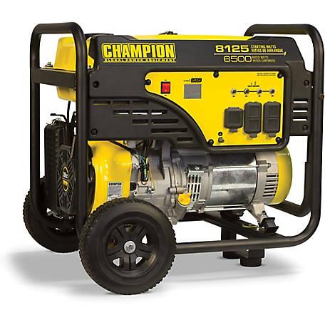 Champion Power Equipment 6500W Portable Generator with Wheel Kit