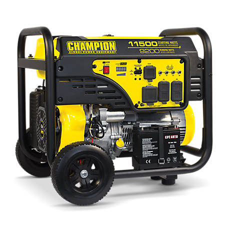Champion Power Equipment 9,200-Watt Portable Generator with Electric Start, 100110