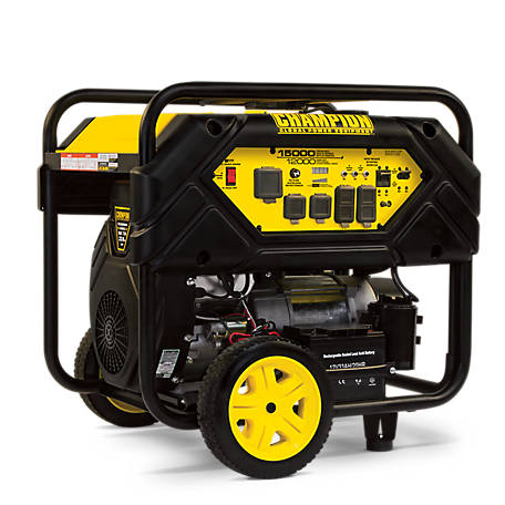 Champion Power Equipment 12,000-Watt Portable Generator with Electric Start  and Lift Hook at Tractor Supply Co