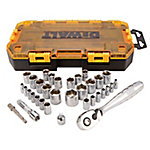 DeWALT 34-Piece 1/4 in. and 3/8 in. Drive Socket Set