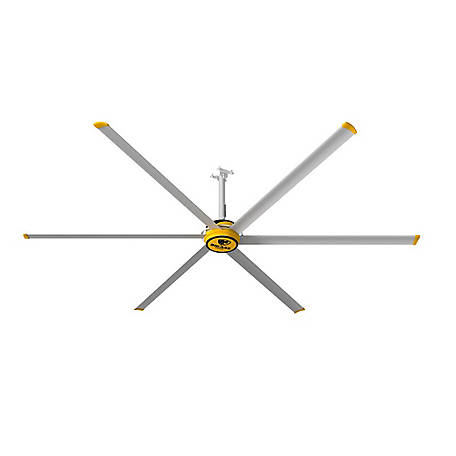 Big Ass Fans BAF 3600 12 ft. Shop Variable Speed Ceiling Fan with Wall Control, F-ES2-1201S34