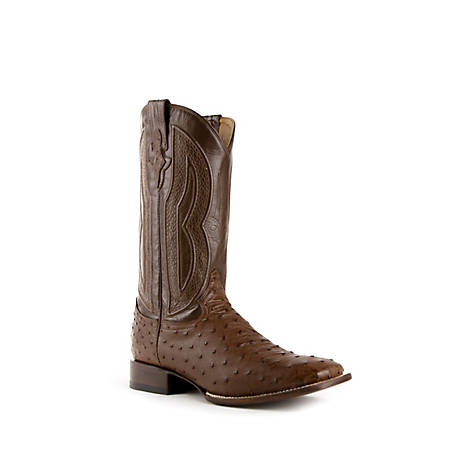 Ferrini Men's Full Quill Ostrich Cowboy Boots at Tractor Supply Co
