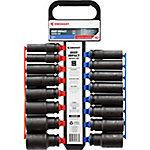 JobSmart 16-Piece 1/2 in. dr. Impact Deep Socket Set