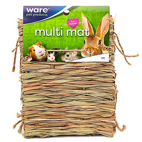 Ware Manufacturing Natural Handwoven Grass Multi-Use Mat for Small Animals, 3868