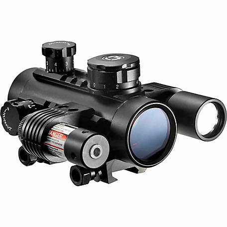 Barska AC11398 1x30 Electro Red Dot Sight with Flashlight & Laser