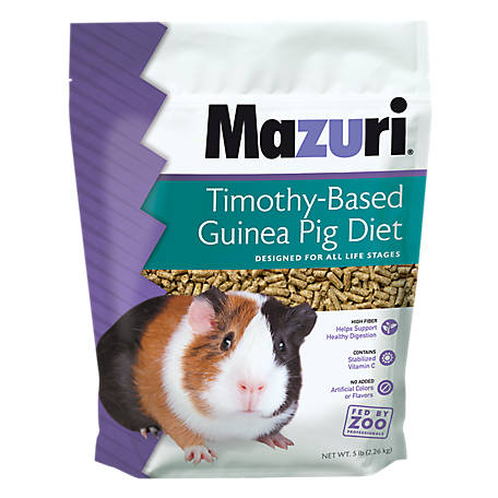 Purina Mazuri Timothy-Based Guinea Pig Diet, 5 lb.