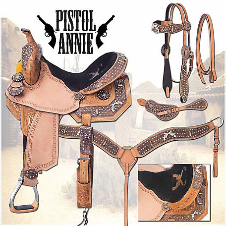 Silver Royal Pistol Annie Barrel Saddle Package at Tractor Supply Co