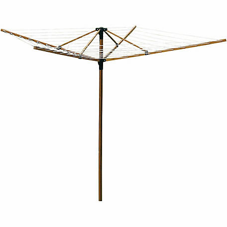 Greenway GCL9FAB Large Outdoor Bamboo Rotary Clothesline