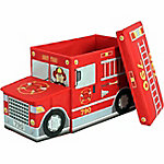 Greenway GFS1100FT Collapsible Children's Storage Ottoman, Fire Truck