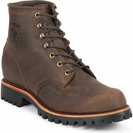 Chippewa Men's Chocolate Apache Utility Lace Up 6 in. Boot