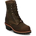 Chippewa Men's Chocolate Apache Utility Steel Toe Logger 8 in.boot