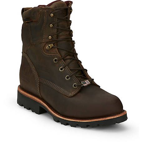 Chippewa Men S Bay Crazy Horse Utility Waterproof Insulated 8 In