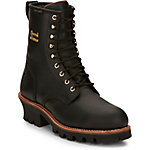 Chippewa Men's Black Insulated Waterproof Steel Toe Logger 8 in. Boot