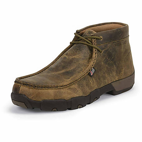 Justin Men's Full Grain Waxy Steel Toe Moc Boot