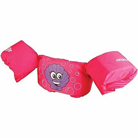Puddle Jumper Life Jacket, Pink Clam