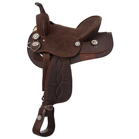 Tough-1 King Series Suede Seat Synthetic Trail Saddle