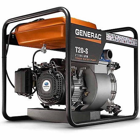 Generac 6920 - 2 in. Trash Water Pump with Subaru Engine, 69200