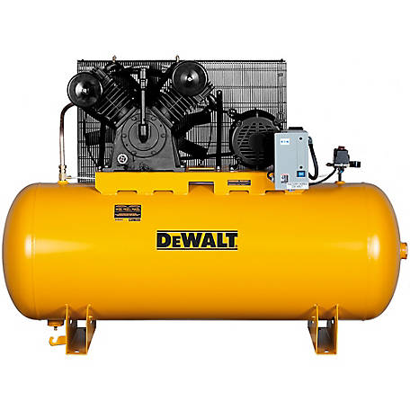 DeWALT 10.0 RHP 120 gal. 2 Stage Horizontal Stationary Air Compressor, DXCMH9919910